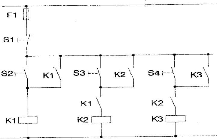 mạch điều khiển 3 máy bơm